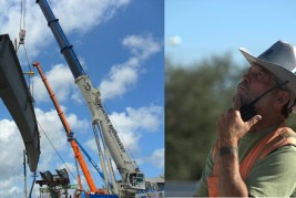 V&M Erectors demonstrates experience with structural steel lifts